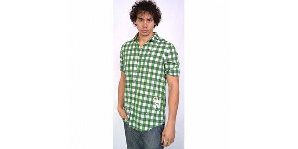 Pánska zeleno-šedá kockovaná košeľa Energie