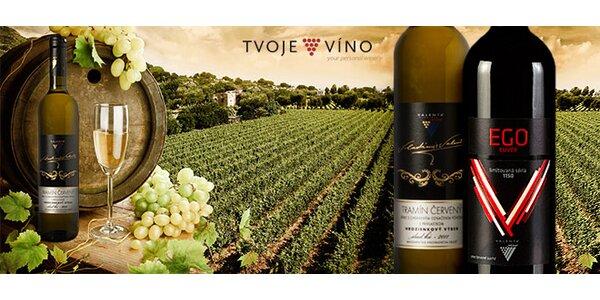 Exkluzívne vína EGO cuvée limitovaná edícia a Tramín červený