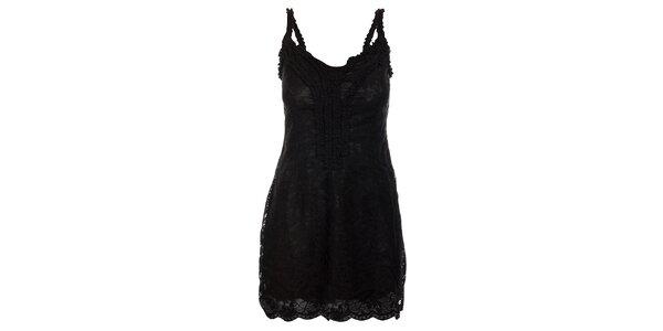 Dámske čierne čipkové šaty Velvet Kitten