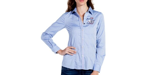 Dámska bledo modrá športová košeľa Galvanni
