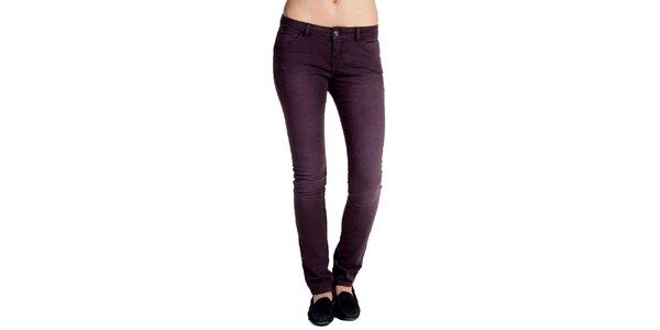 Dámske fialovošedé džínsy s šisovaním Galvanni
