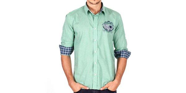 b5310b0b552f Luxusné pánske oblečenie pre náročných Galvanni. Táto kampaň už skončila.  Pánska zeleno kockovaná košeľa Galvanni