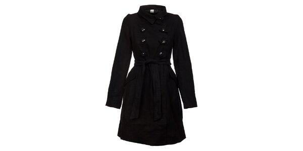 Dámsky čierny kabát Pussy Deluxe