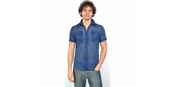 Pánska indigovo modrá košeľa Energie