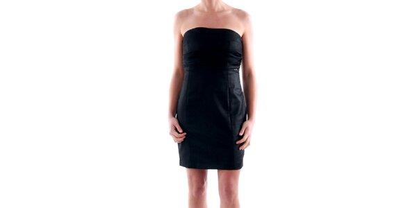 Dámske čierne šaty bez ramínek Amy Gee