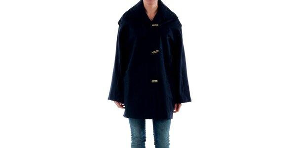 Dámsky modrý kabát so širokými rukávmi Amy Gee