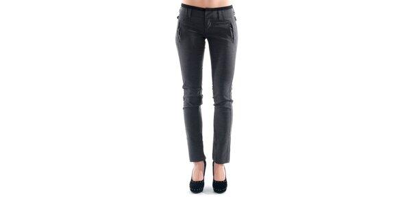 Dámske šedé nohavice s prackami na bokoch Amy Gee