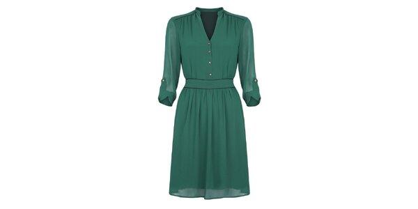 Dámske smaragdovo zelené šaty Uttam Boutique
