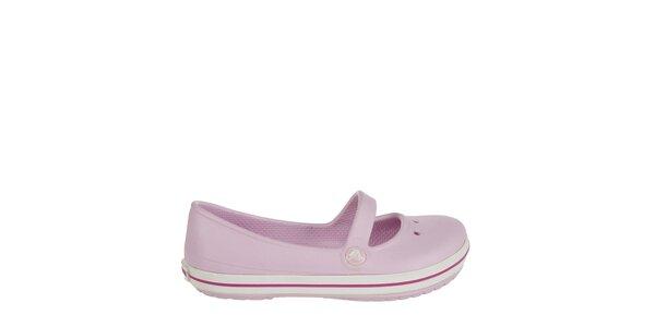 Dievčenské svetlo ružové balerínky Crocs