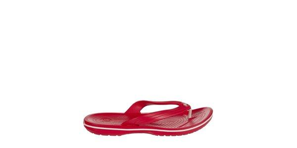 Pánske červené žabky Crocs s masážnou stielkou