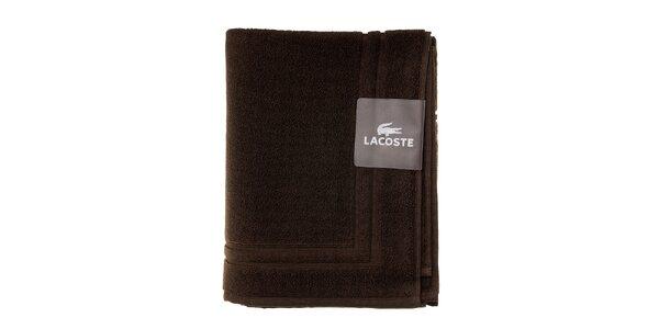 Ebenovo hnedá kúpeľňová predložka Lacoste