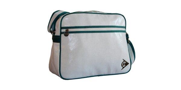 Bielo-zelená športová taška cez rameno Dunlop