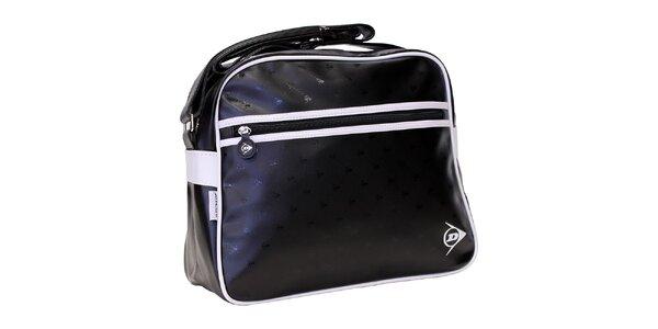 Športová čierna taška s bielym logom Dunlop