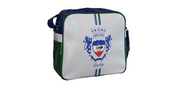 Modro-bielo-zelená taška cez rameno Dunlop