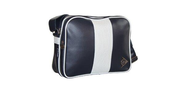 Modro-biela retro taška Dunlop