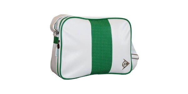 Bielo-zelená taška cez rameno Dunlop