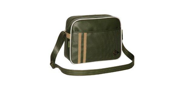 Zelená retro športová taška Dunlop