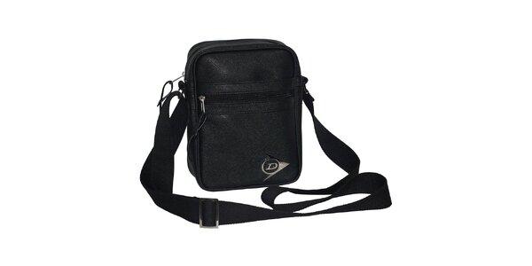 Športová čierna taška cez rameno Dunlop