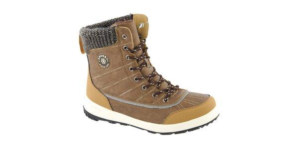 Dámske béžové zimné vysoké topánky Crosby