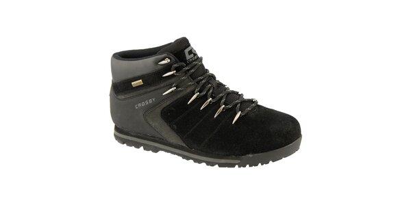 Pánske čierne topánky s podšívkou z vlny Crosby
