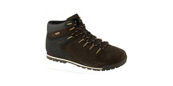 Pánske hnedé topánky s podšívkou z vlny Crosby