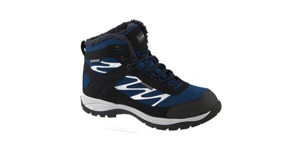 Pánske modré zimné topánky Crosby s kožúškom