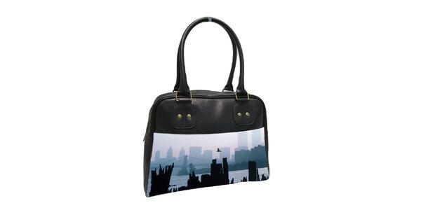 Dámska čierna kabelka s motívom New York City Kothai 7bc1501048e