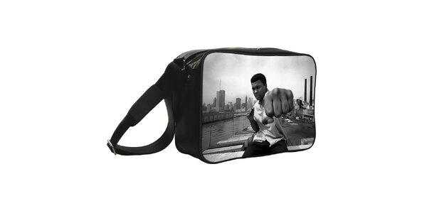 Čierna taška s potlačou fotografie Kothai