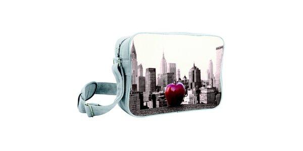 Šedá taška s potlačou veľkého jablka Kothai