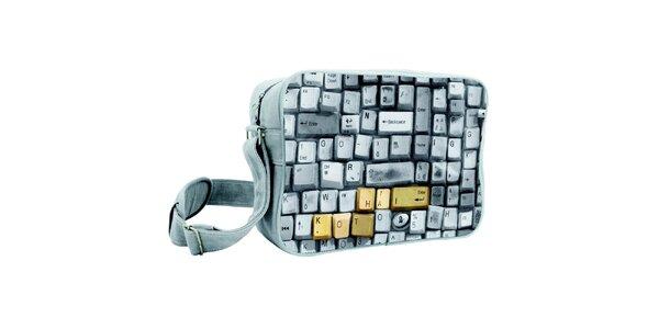 Šedá taška s klávesnicou Kothai