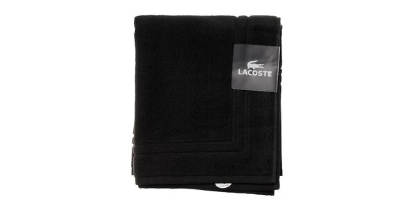Čierna kúpeľňová predložka Lacoste