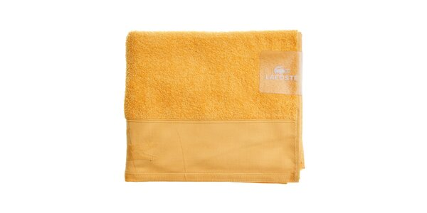 Väčší oranžovo-žltý uterák Lacoste