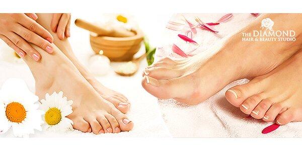 Mokrá pedikúra s lakovaním a masážou