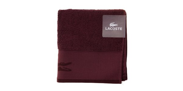 Vínový uterák Lacoste