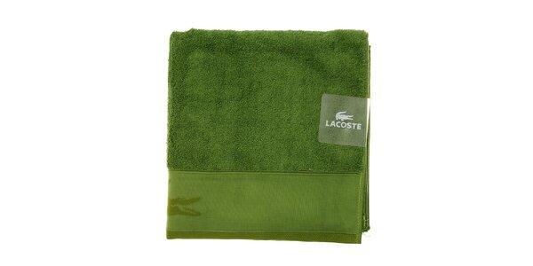 Trávovo zelená osuška Lacoste