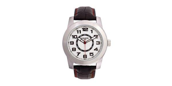 Pánske oceľové hodinky Lancaster s bielym ciferníkom