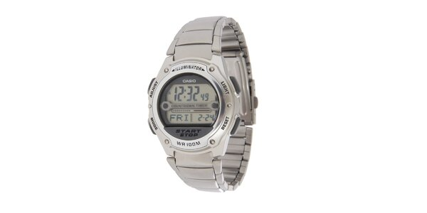 Pánske oceľové digitálne hodinky Casio