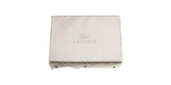 Krémový set posteľného prádla Lacoste v prevedení bavlnený satén