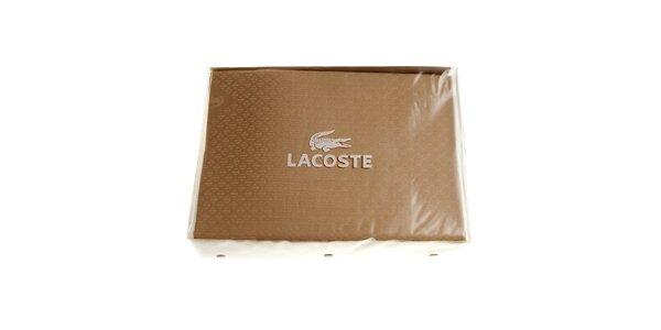 Béžový set posteľného prádla Lacoste v prevedení bavlnený satén