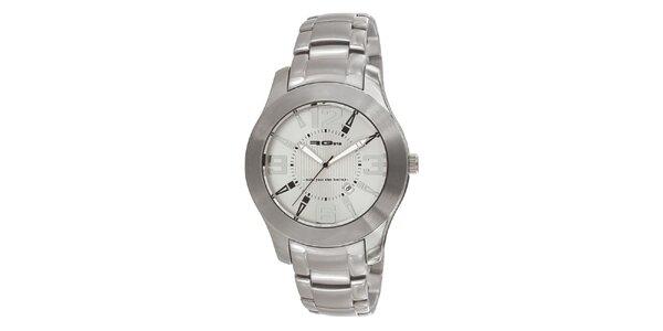 Strieborné oceľové hodinky RG512