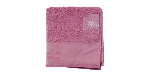 Sýto ružový uterák Lacoste