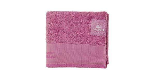 Väčší svetlo ružový uterák Lacoste