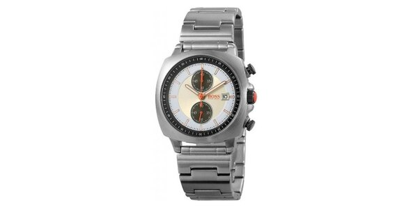 Oceľové hodinky s modro-žltým ciferníkom Hugo Boss Orange