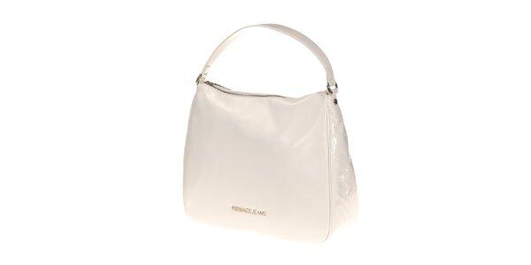 Dámska biela lesklá kabelka Versace Jeans