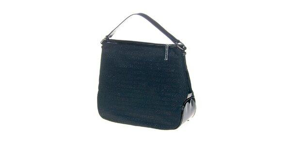 Dámska modrá kabelka s potlačou Versace Jeans