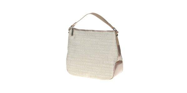 Dámska biela kabelka s potlačou Versace Jeans