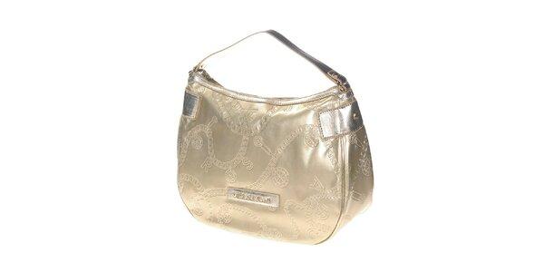 Dámska zlatá kabelka s reliéfnym povrchom Versace Jeans