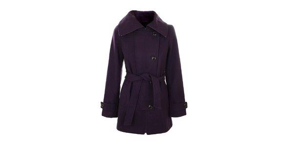 Dámsky fialový kabát Straboski