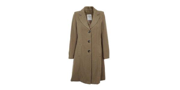 Dámsky jednoradový hnedobéžový kabát Gémo