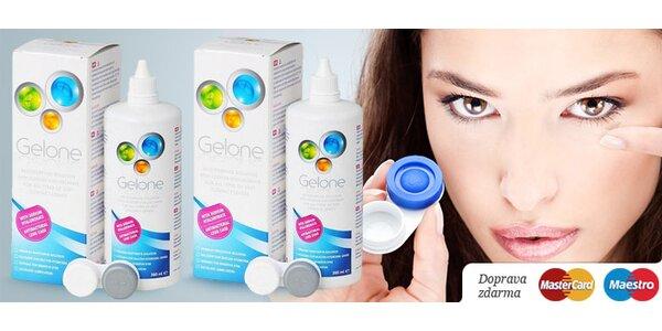 Roztok Gelone (2 x 360 ml) na kontaktné šošovky. Novinka šetrná k vášmu oku